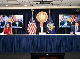 New York Governor Andrew M. Cuomo, joined via video conference with New Jersey Governor Phil Murphy and Connecticut Governor Ned Lamont,  announced a joint incoming travel advisory that all individuals traveling from states with significant community spread of COVID-19 quarantine for a 14-day period from the time of last contact within the identified state.