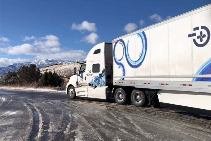 Plus.ai has already tested its autonomous capabilities in winter weather, which trucks tested along the Interstate 70 truck automation corridor could experience during their trips between Ohio and Indiana.  - Photo: Plus.ai