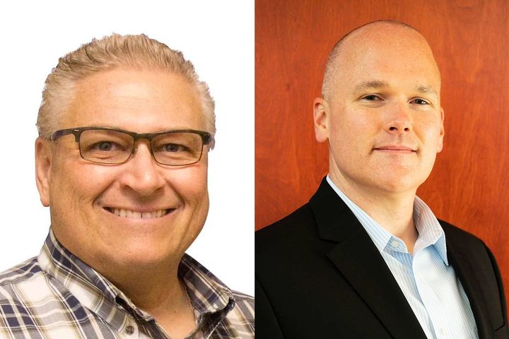 Gregory Goss (left) was recently promoted to vice president and general manager. Ryan Miller (right) has been promoted to director of transportation operations after working as transportation manager. - Images: Sunrise Transport