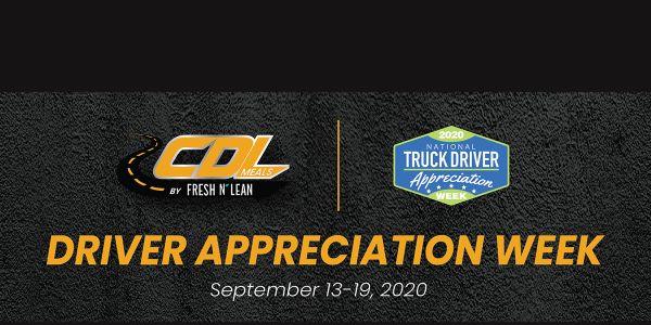 CDL Meals Promotion Celebrates Driver Appreciation Week