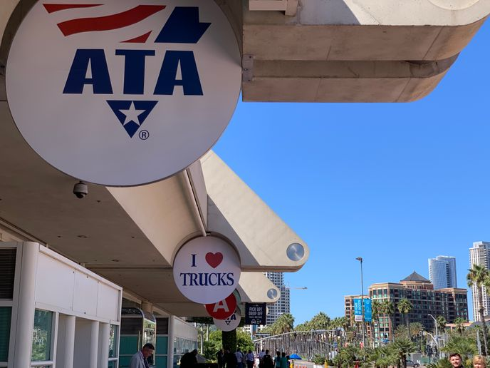Unlike last year's MC&E in San Diego (shown), American Trucking Associations' 2020 event will be virtual.  - Photo: Deborah Lockridge