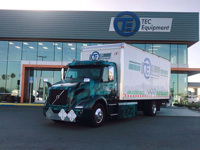 Volvo is testing electric heavy-duty vehicles in real-world use, like this one in California.