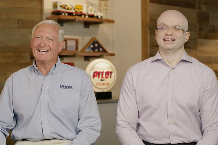 Current CEO Jimmy Haslam and incoming CEO Shameek Konar. - Photo: Pilot Company