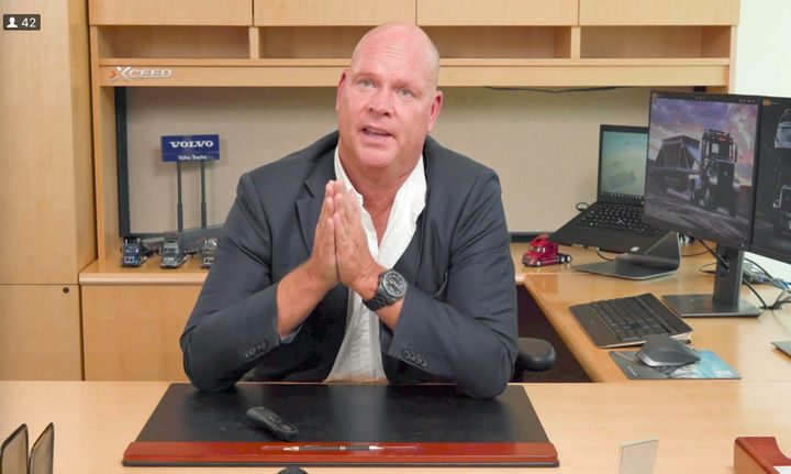 "Magnus Koeck, Volvo Trucks North America vice president of strategy, marketing and brand management, discussed these ""extraordinary times.""