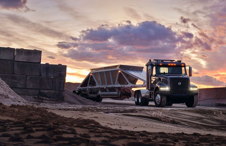 Volvo's newly redesigned VHD vocational truck is poised for a new highway bill.