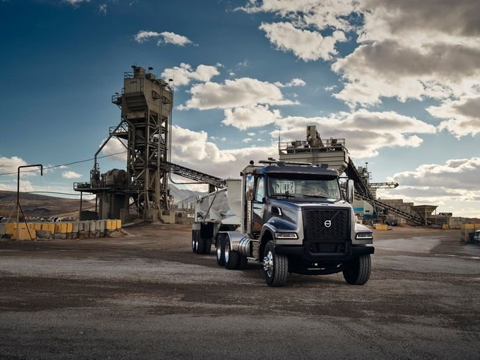 Volvo Trucks' newly designed VHD Series is ideal for applications such as dump, mixer, roll-off, logging, snow plow, crane and many other specialty vocations.  - Photo: Volvo Trucks North America