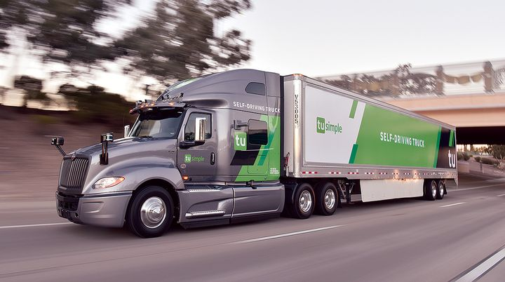 North American truckmaker Navistar is partnering with robotic truck startup, TuSimple, to produce production-ready driverless trucks by 2024.