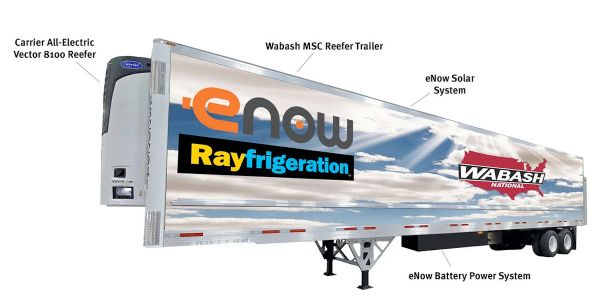 Wabash National, eNow Deliver Zero-Emission Refrigerated Trailers
