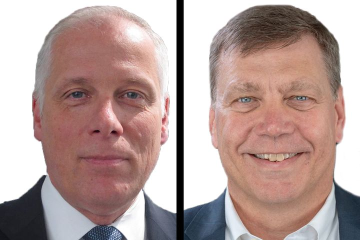 Friedrich Baumann (left) will take on the role of president of sales, marketing and aftersales, while Phil Christman was named president of operations. - Photos: Navistar