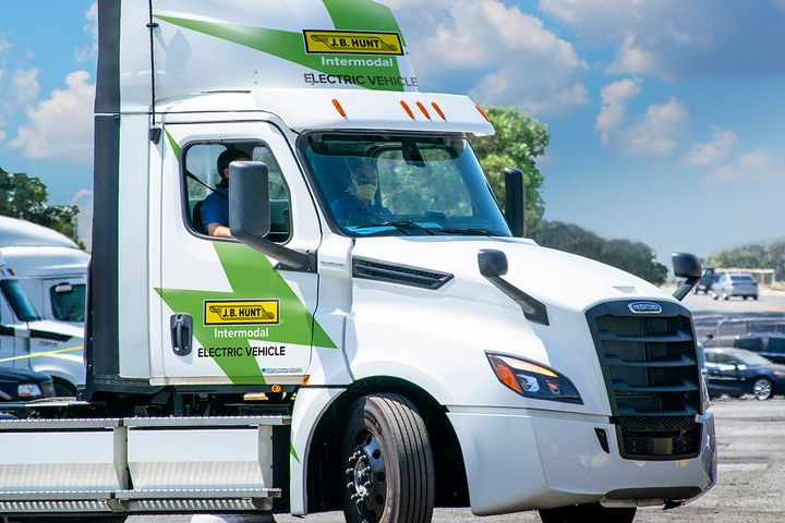 J.B. Hunt said it's applying lessons learned in deploying natural-gas trucks in its electric-truck plans.