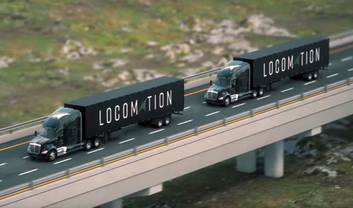 Locomation's two-truck Autonomous Relay Convoy relies on guidance and traffic management from the lead truck while the follow truck is capable of Level 4 automated driving. 