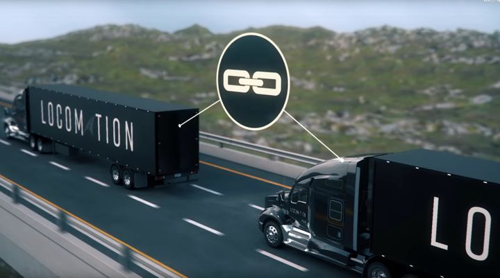 Linked by adaptive cruise control and DSRC, the trucks can maintain a very close following distance to optimize air flow for reduced fuel consumption and GHG emissions. 