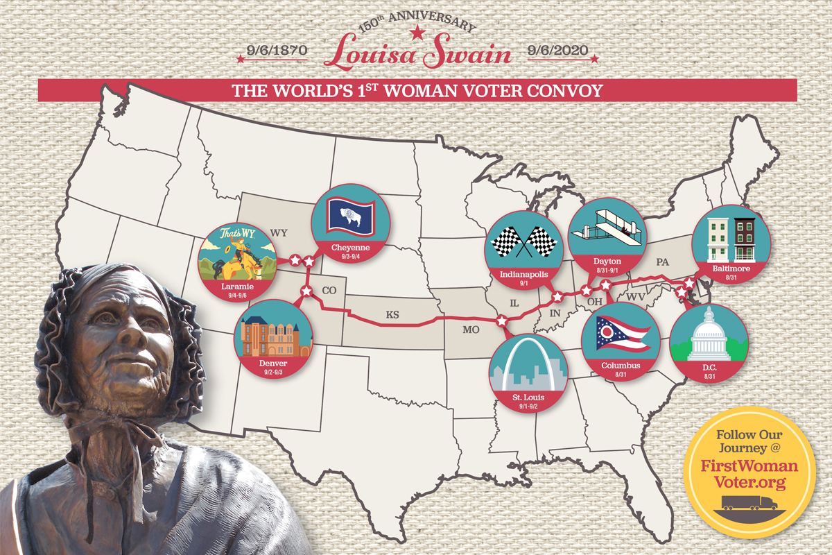 Convoy Honors First Woman Voter