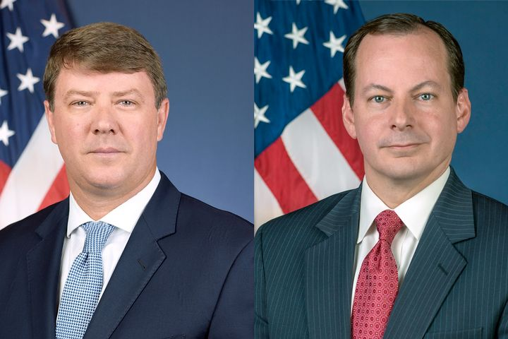 Acting Administrator Mullen (left) will be stepping down at the end of August, with Wiley Deck, currently a Senior Policy Advisor to the Secretary and former FMCSA Director of Government Affairs, will assume the role of Deputy Administrator of FMCSA. - Photos: U.S. DOT