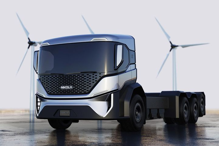 A version of the Nikola Tre that likely would have been used as a basis for the electric refuse truck. - Photo: Nikola