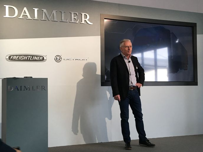 Müller-Finkeldei replaces the retiring Wilfried Achenbach, shown here at the CES electronics show in 2019.