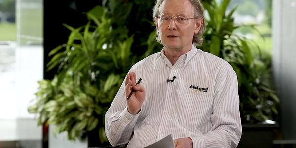 Tom McLeod speaks from McLeod Software's Birmingham, Alabama, headquarters during the company's...