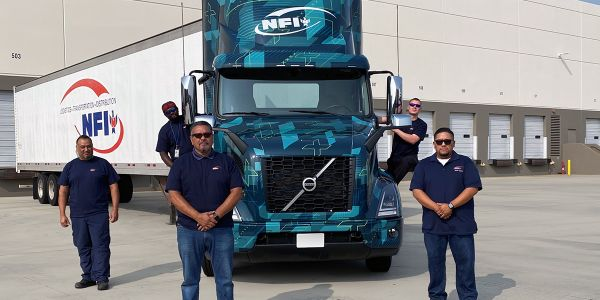 The Volvo VNR Electric trucks will be integrated into NFI's commercial operations, demonstrating...