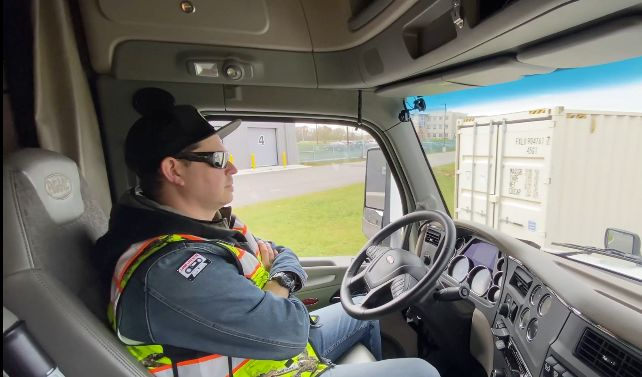 Pronto said its combination of advanced safety technologies would help reduce physical and mental driver stress, thereby allowing a modest increase in certain hours of service parameters. - Photo: Screen capture from VTTI video