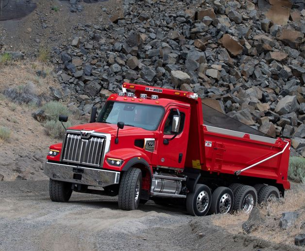 The new DT12 Vocational automated manual transmission features both jobsite and highway driving modes and an optimized shift map to power the 49X in even the harshest off-road terrain. - Photo: Daimler Trucks North America