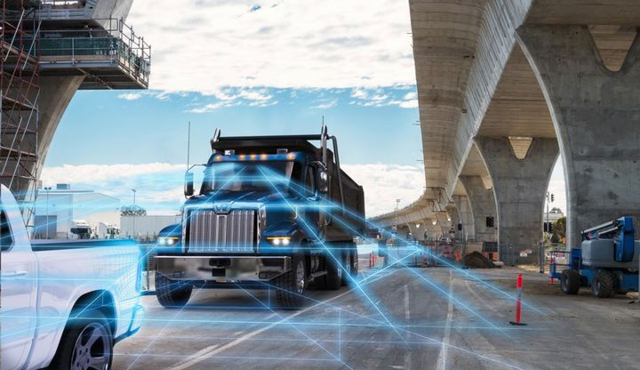 DTNA's Detroit Assurance active vehicle safety system is one of several new features on the 49X, designed to keep drivers – and workers around the truck – safer in noisy and chaotic working conditions. - Photo: Daimler Trucks North America