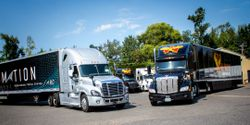 In an eight-day pilot program, two Locomation trucks hauling Wilson Logistics trailers and freight were deployed as an Autonomous Relay Convoy on a 420-mile-long route from Portland, Oregon, to Nampa, Idaho.