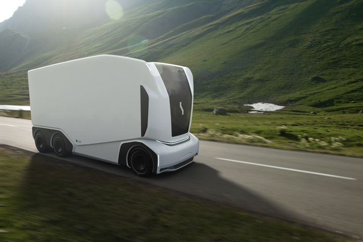 "Einride's Autonomous Electric Transport (AET) ""Pod"" vehicles are designed for SAE Level 4 self-driving. - Photo: Einride"