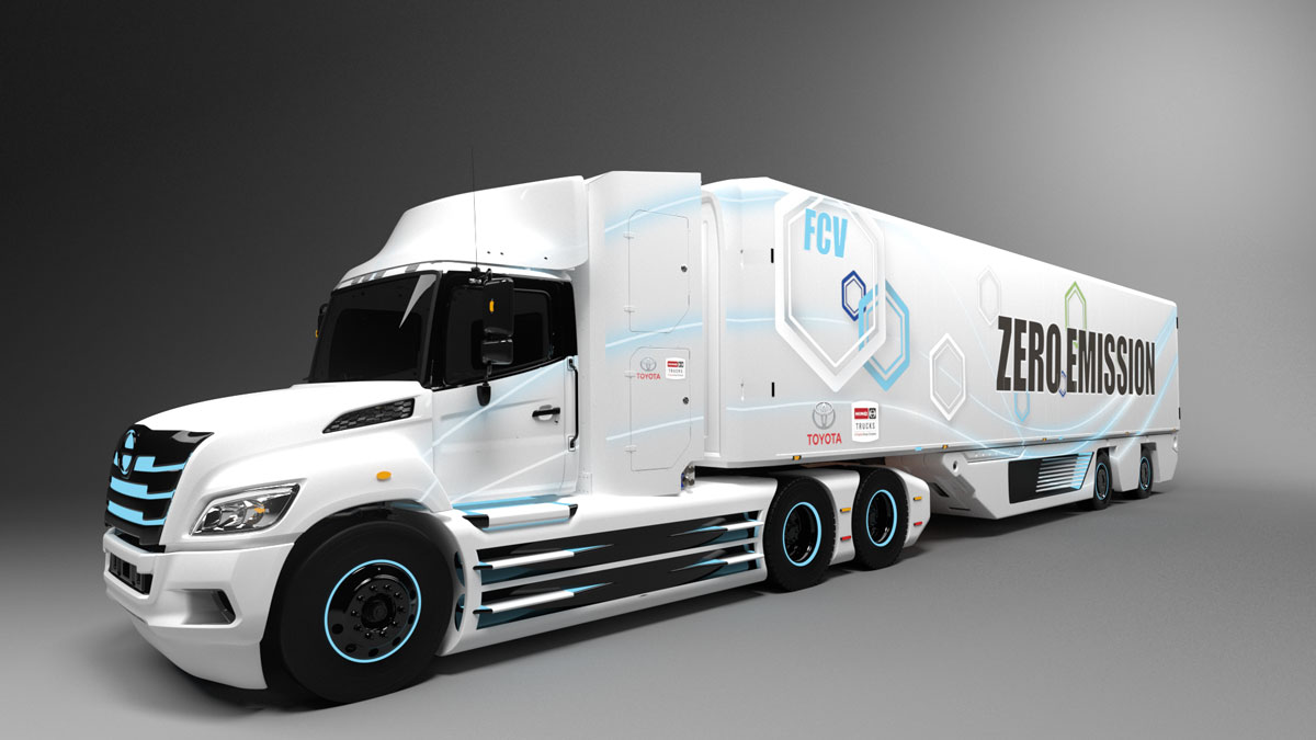 Hino, Toyota Developing Class 8 Fuel Cell Electric Truck for North America