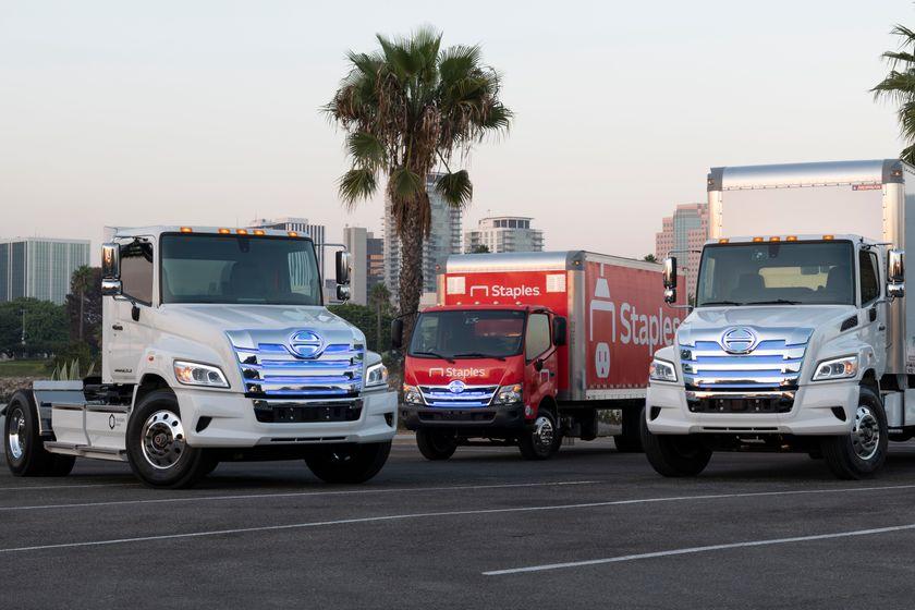 日野的项目ž驱动向着零排放中型和重型卡车。