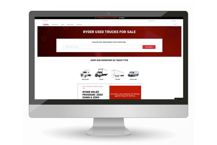 Ryder Creates New Used-Vehicle Site