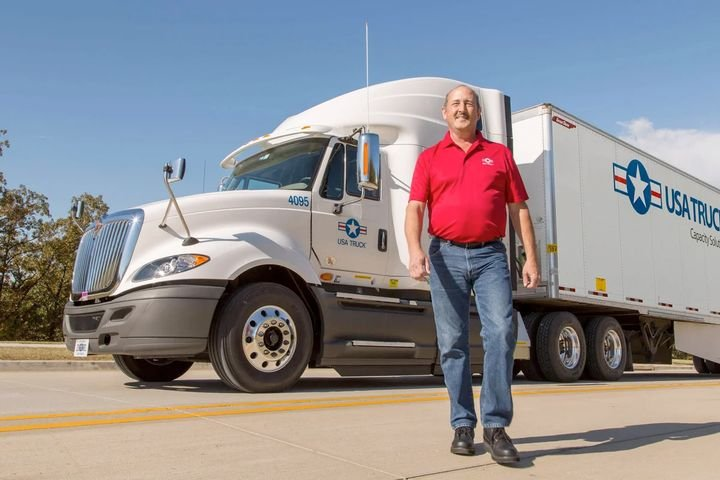 The custom load board mobile app allows drivers to see all available loads in a specific market, pre-plan their week, go anywhere they choose, and then plan themselves home whenever they want, as freight allows.  - Photo: USA Truck