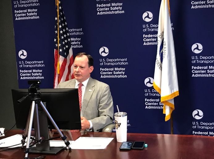 FMCSA's Wiley Deck talks regulations during the American Trucking Associations' virtual conference. - Photo: FMCSA