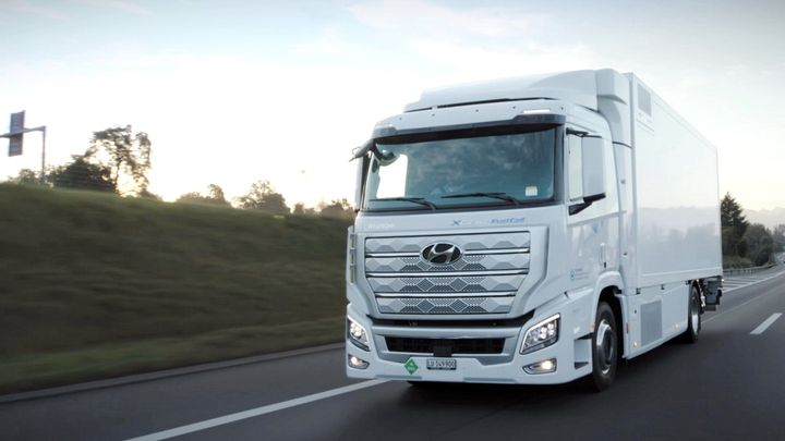 "The Xcient will also be offers as a ""rigid"" or straight truck chassis in some markets.  - Photo: Hyundai"