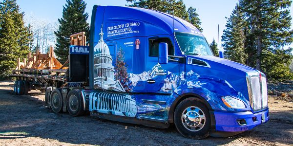 Capitol Christmas Tree Starts Journey to U.S. Capitol Building