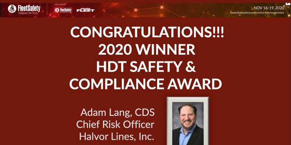HDT Names 2020 Safety & Compliance Winner