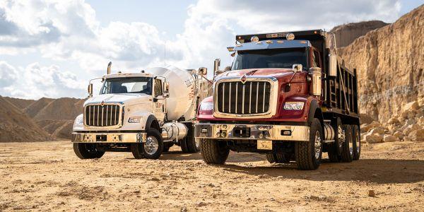 Navistar said the new International HX is aimed at the construction market.