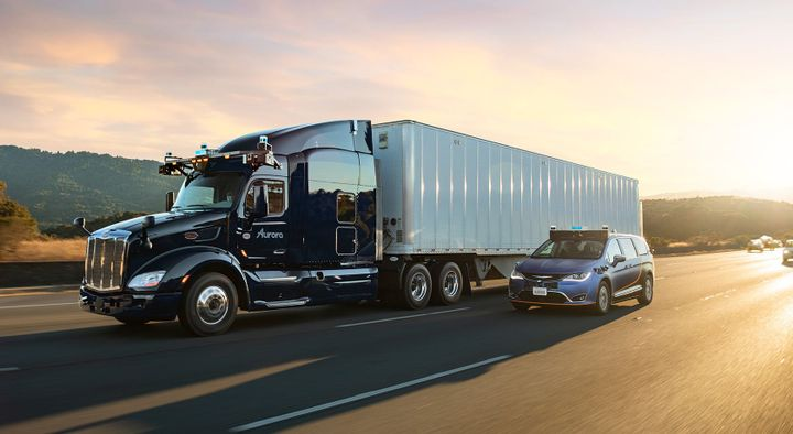 Aurora Driver said its acquistion of Uber ATG and a new, ongoing partnership with Uber will enable it to be a leader in developing both autonomous cars and trucks. - Photo: Aurora Driver