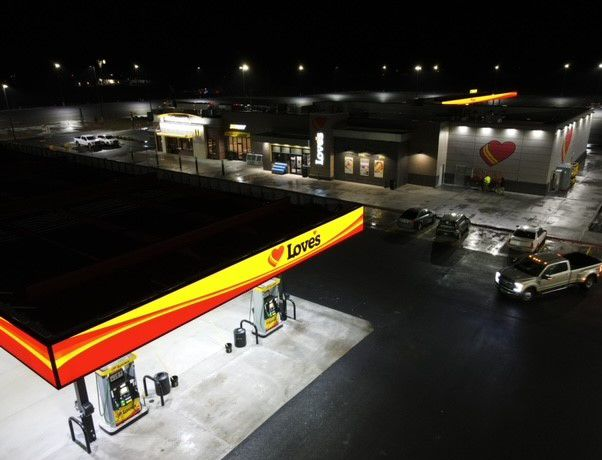A new Love's Travel Stop in Bliss, ID, features 115 truck parking spaces. - Photo: Love's Travel Stops