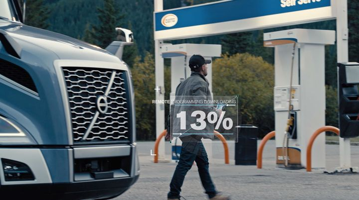 Driver Display Activation, part of Volvo Trucks North America's Remote Programming services, is now available for order. - Photo: Volvo Trucks North America
