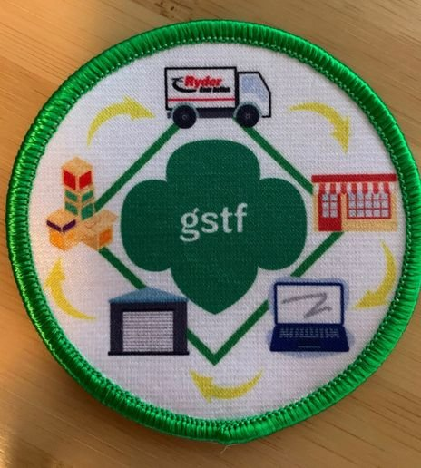 A new uniform patch teaches Girl Scouts about the importance of supply chains and encourages young women to consider a career in logistics. - Photo: Girl Scouts of Tropical Florida