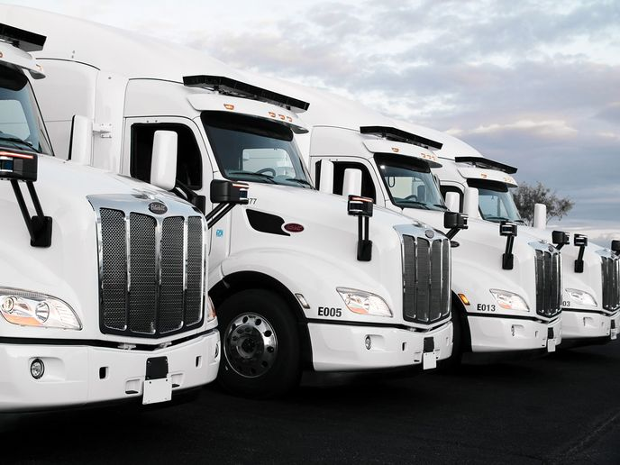 TuSimple teamed up with UPS, Penske Truck Leasing, U.S. Xpress, and McLane to launch the Autonomous Freight Network, which it says will lay the groundwork for self-driving autonomous trucks to become commercially available by 2024. - Photo: TuSimple