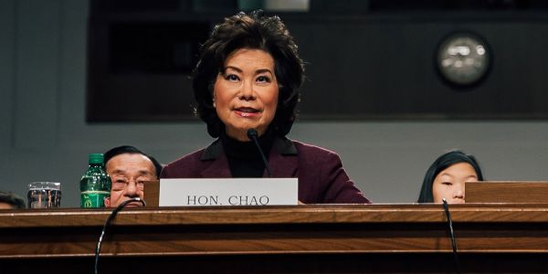 During her confirmation hearing four years ago for secretary of transportation, Elaine Chao...