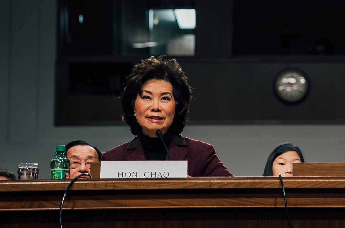 Elaine Chao Resigns as Transportation Secretary