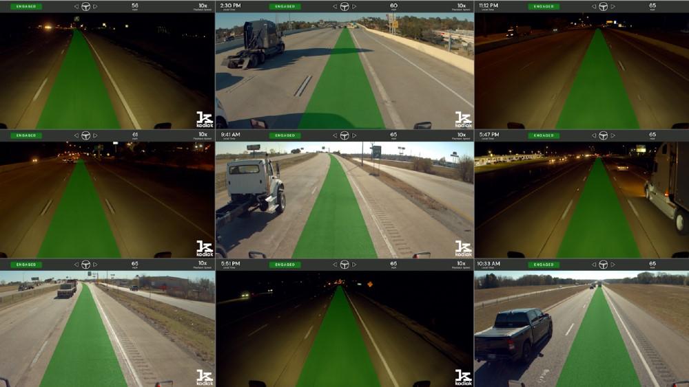 Kodiak Showcases Autonomous Truck Freight Runs