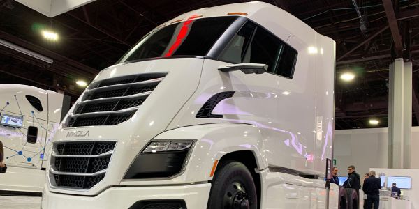 Nikola (truck in file photo from NACV 2019) said a new electric rate schedule deal with Arizona...