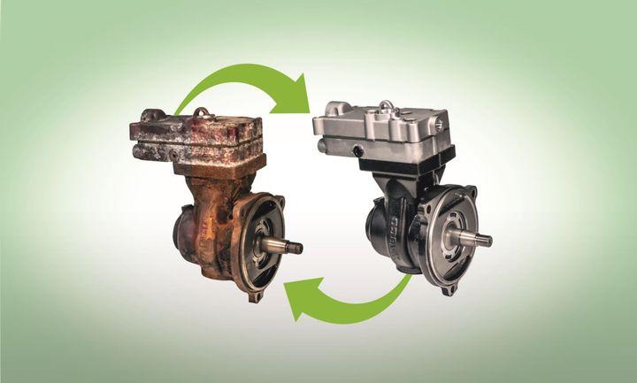 ZF's remanufactured air compressor portfolio now includes Cummins remanufactured air compressors. - Photo: ZF