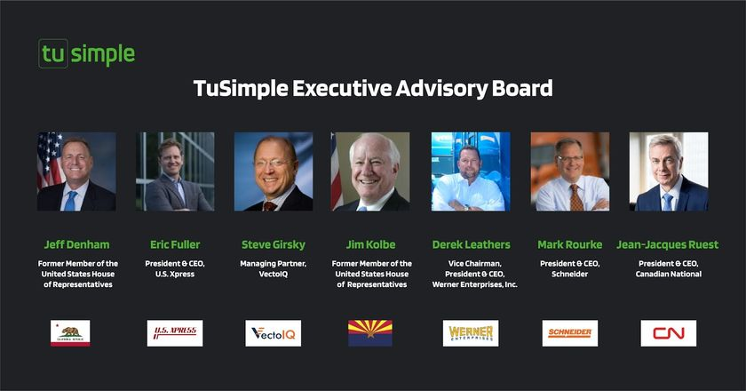 TuSimple has announced the members of its newly established Executive Advisory Board, whichwill...