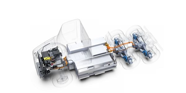 Tractor configurations include 4x2, 6x2 and 6x4 with independent drive axle control for energy...