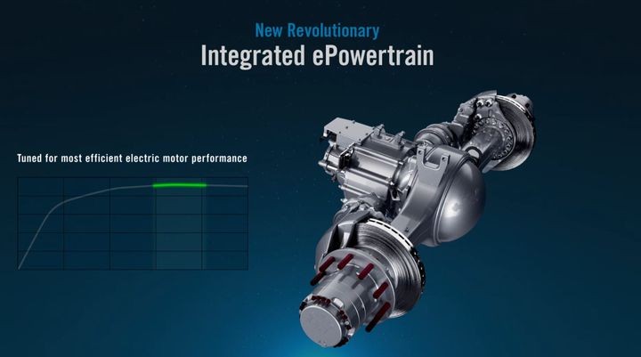 Meritor's 14Ex integrated axle is tuned by application for optimum efficiency and driver satisfaction. - Photo: Screen Capture from media presentation