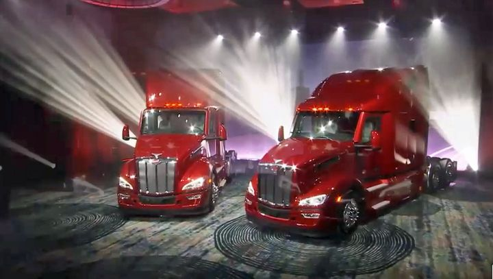 During a YouTube launch, Peterbilt unveiled its New Model 579 on February 3, 2021. The new truck is the first significant upgrade of the Model 579 aerodynamic tractor, which was launched at the Mid-America Truck Show in 2012. - Screen image: Youtube